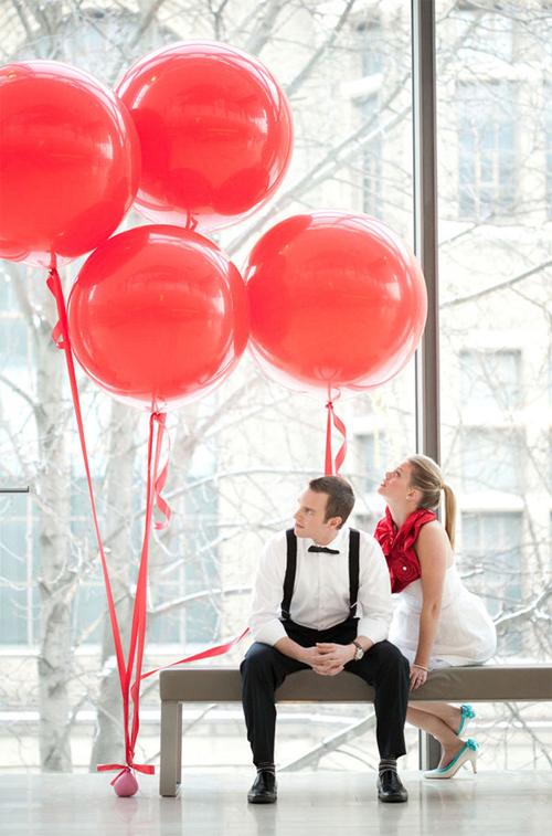 Големи Балони за свети Валентин